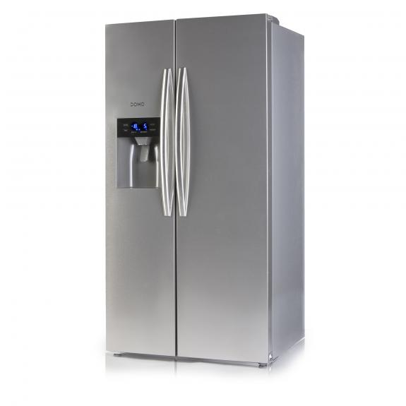 Side by side fridge-freeze combination with water and ice dispenser