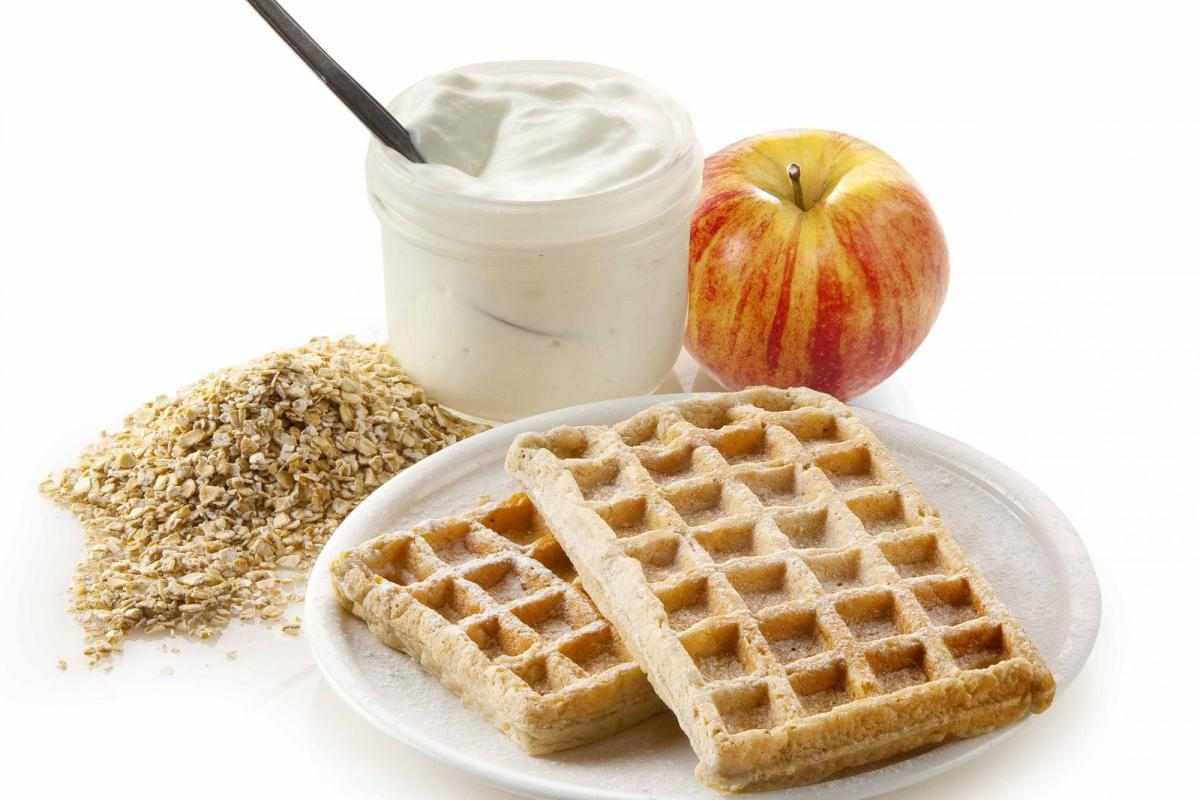 Waffle: sweet and healthy