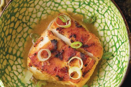 Halibut with miso